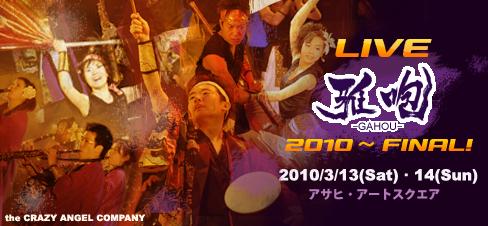 LIVE雅咆2010?FINAL!バナー