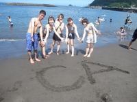 CA海旅行_砂遊び