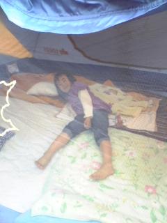 朽木村キャンプ場テントのYOU