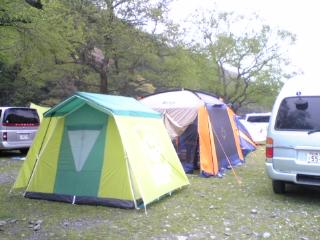 朽木村キャンプ場テント
