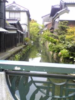 黒壁の町の橋からの風景3