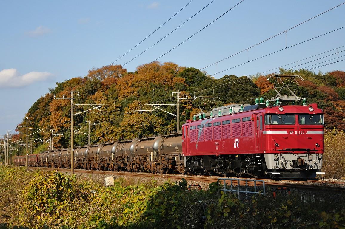 2010.11.27 1418_52(3) 牛久~佐貫 EF81 133+タキ+トキ(安中貨物)