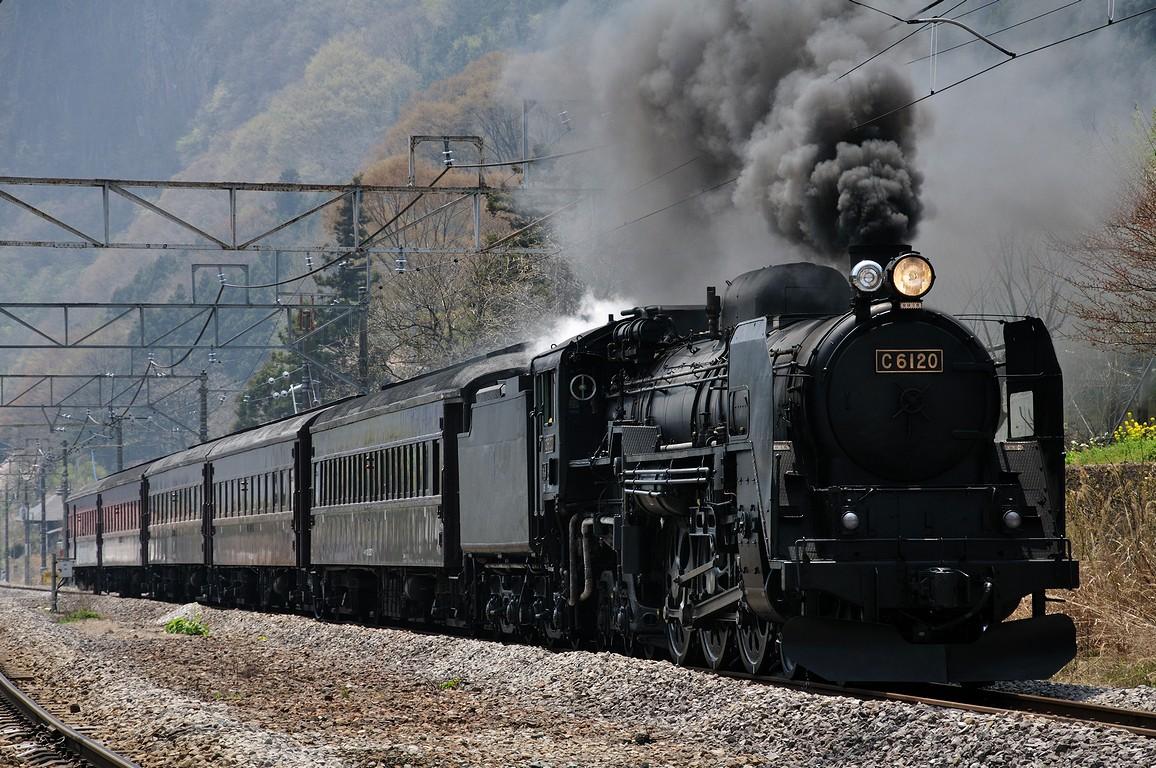 2011.04.27 1124_08(1) 津久田~岩本 C61 20+在来形客車