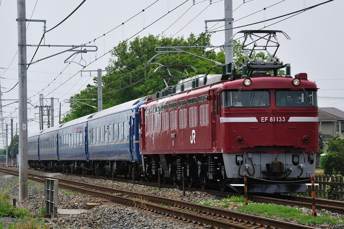 2011.05.17 1119_14(1) 久喜~新白岡 回9501レ EF81 133+24系