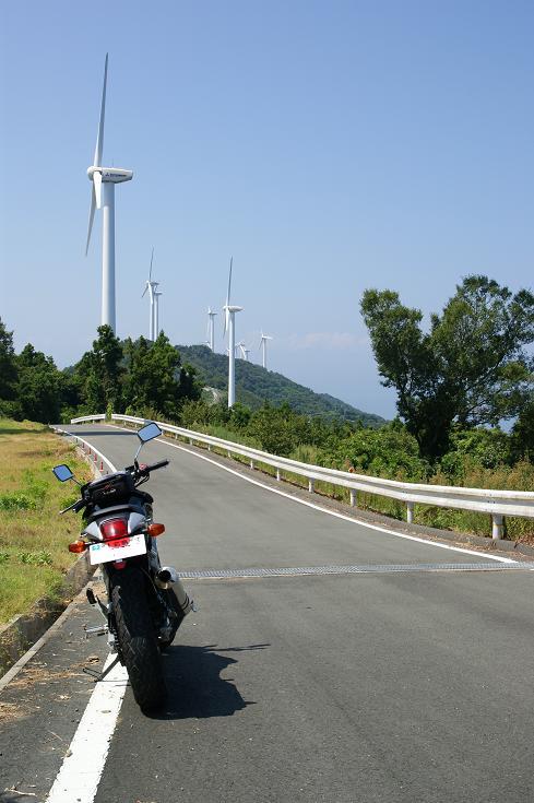 VTRと11基の風車