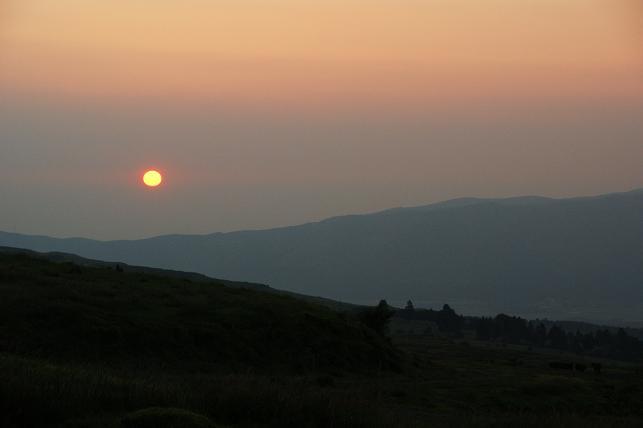パノラマラインからの夕日