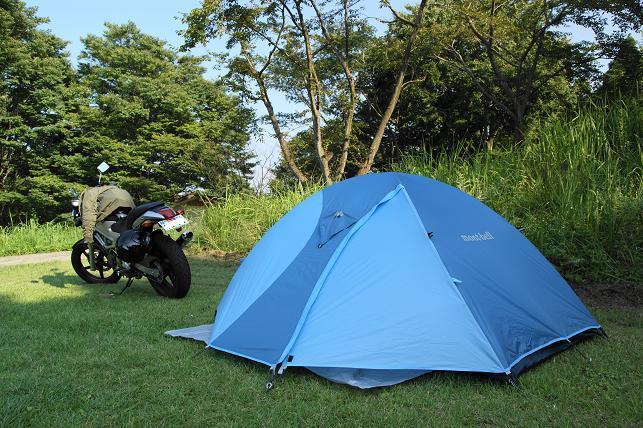 坊中野営場にてVTRと共に初キャンプ