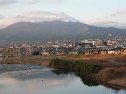 富士山を見ながら狩野川を南下します