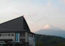 富士川楽座の夕焼け