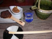 遠雷の蕎麦味噌