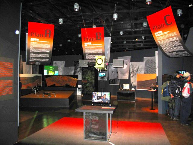展内では、火星探査に纏わる歴史紹介だけでなく、次期火星探査計画4案の人気投票もあります