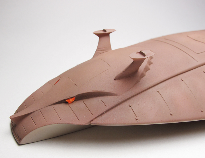 ジオン公国軍 巨大潜水母艦マッドアングラー【1/1200】