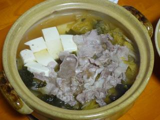 豚肉入り湯豆腐