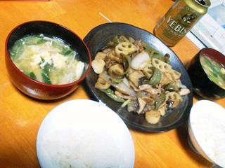 蓮根入り野菜炒め