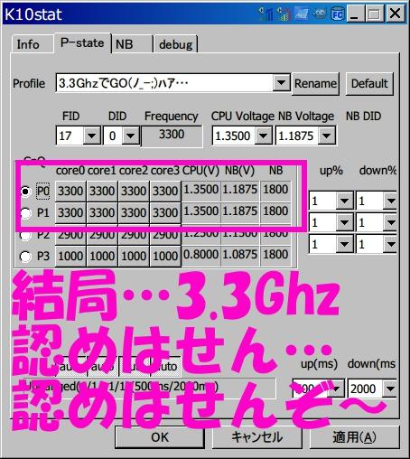結局…3.3Ghz