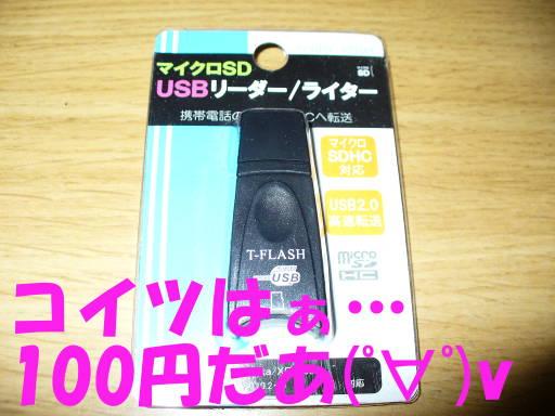 100円だあ(゚∀゚)v