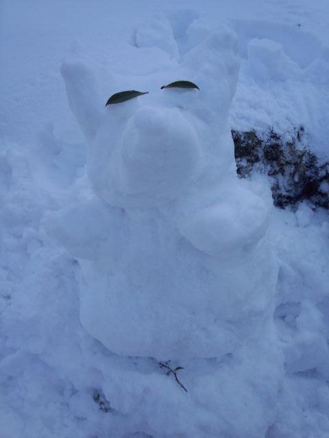 ワンコの雪だるま
