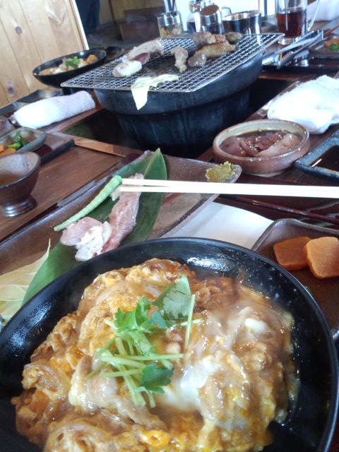 親子丼&地鶏の炭火焼