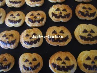 1027 ジャックオランタンクッキー