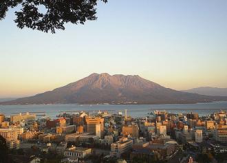 09 夕方の桜島 (36%)エッジ強調