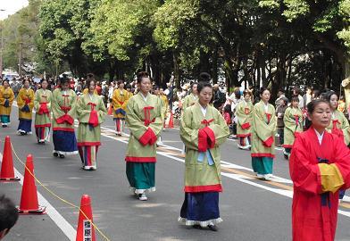 パレード 古代衣装女帝みやび行列1