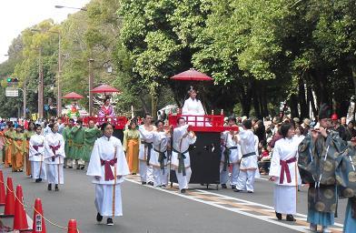 パレード 古代衣装女帝みやび行列2