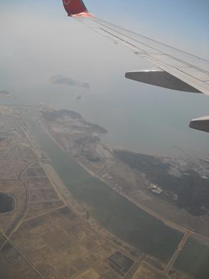 仁川国際空港・着陸前