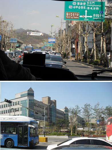 ソウル市内へ