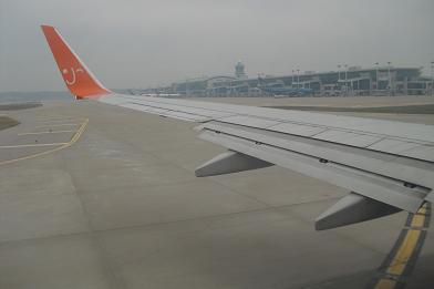 仁川国際空港離陸