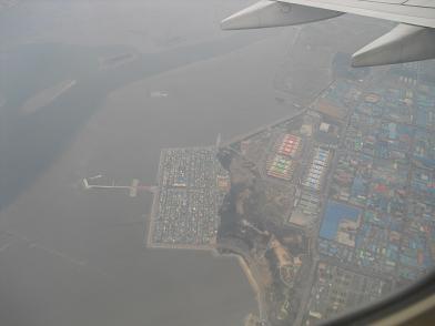 仁川国際空港離陸・上空
