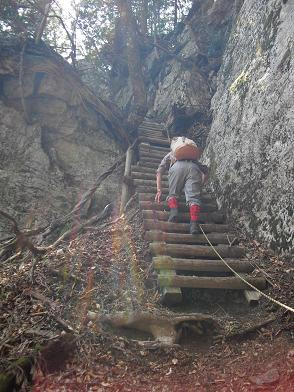 七曜岳への登り