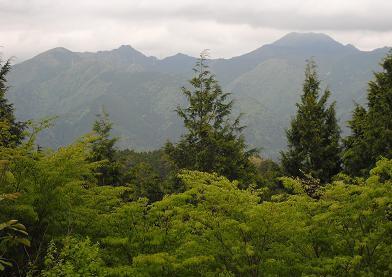 奥駈道と笠捨山