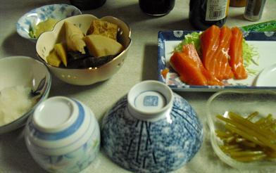 民宿の夕食1