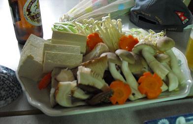ぼたん鍋の野菜