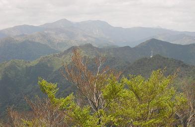 笠捨山から釈迦ケ岳方面