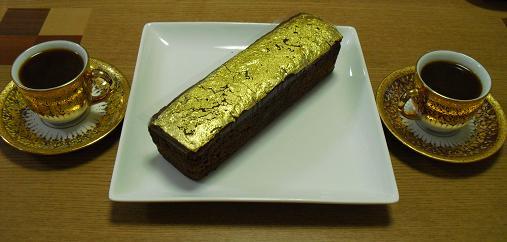 4 金箔のケーキ