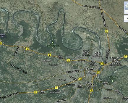 2 アグラ周辺の河の蛇行(縮)