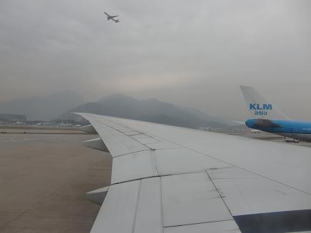 7 香港空港に到着