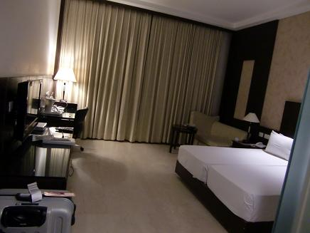 16 デリーのホテル室内