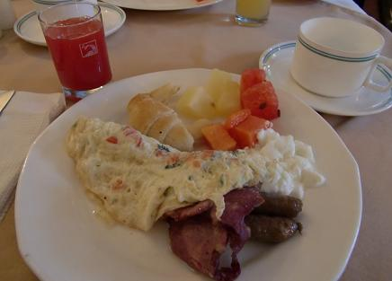 3 アグラ・ホテルの朝食