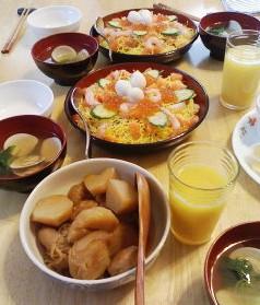 ひな祭りにはちらし寿司!