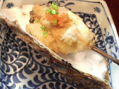 牡蠣の串揚げ