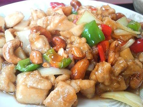 鶏肉とナッツ定食アップ