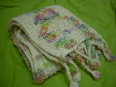 私の手編みマフラー