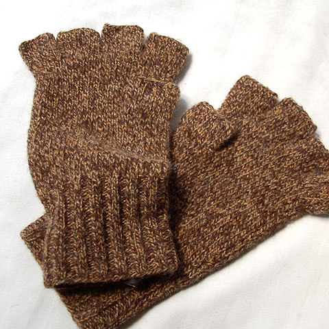 Double RL FINGERLESS WOOL GLOVE