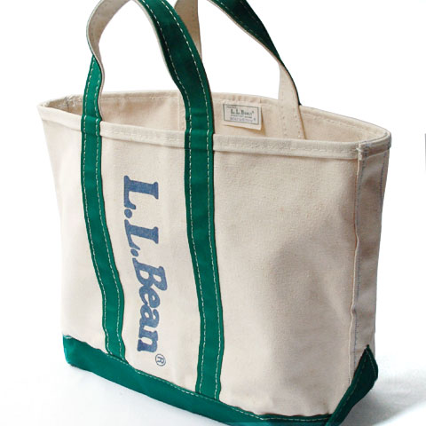 L.L.Bean BOAT&TOTE BAG (S/White×Green)