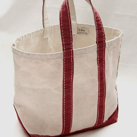 L.L.Bean BOAT&TOTE BAG (S/WhitexRed)