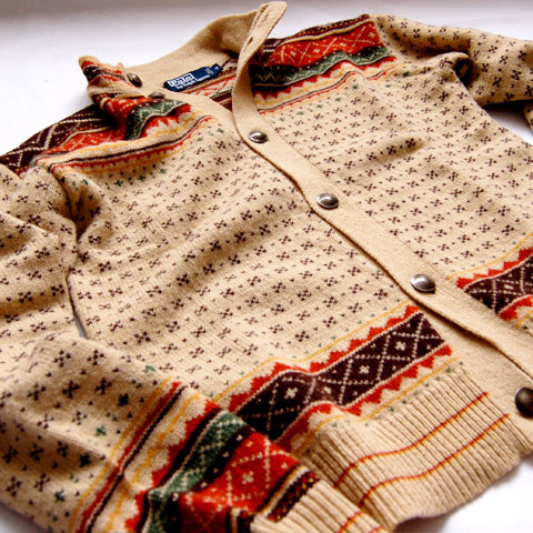 Polo Ralph Lauren CONCHO BUTTON WOOL CARDIGAN