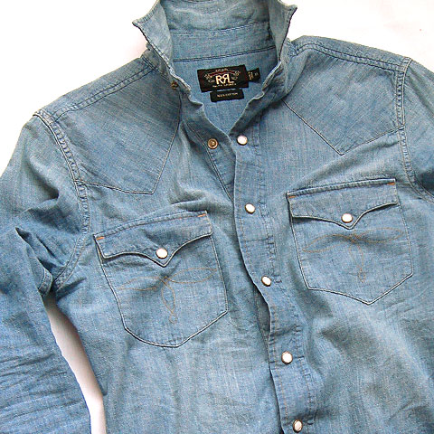 Double RL WESTERN CHAMBRAY SHIRTS
