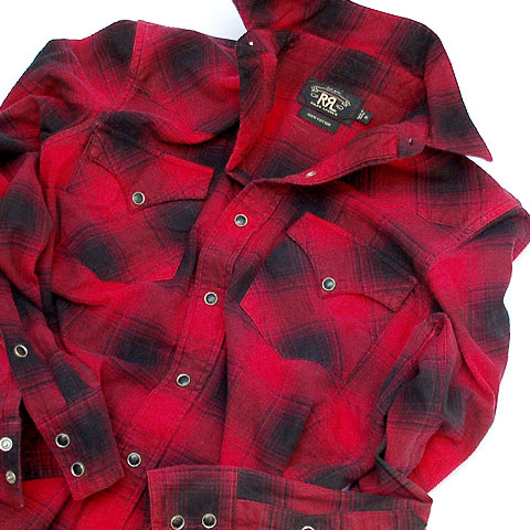 Double RL WESTERN FLANNEL SHIRTS